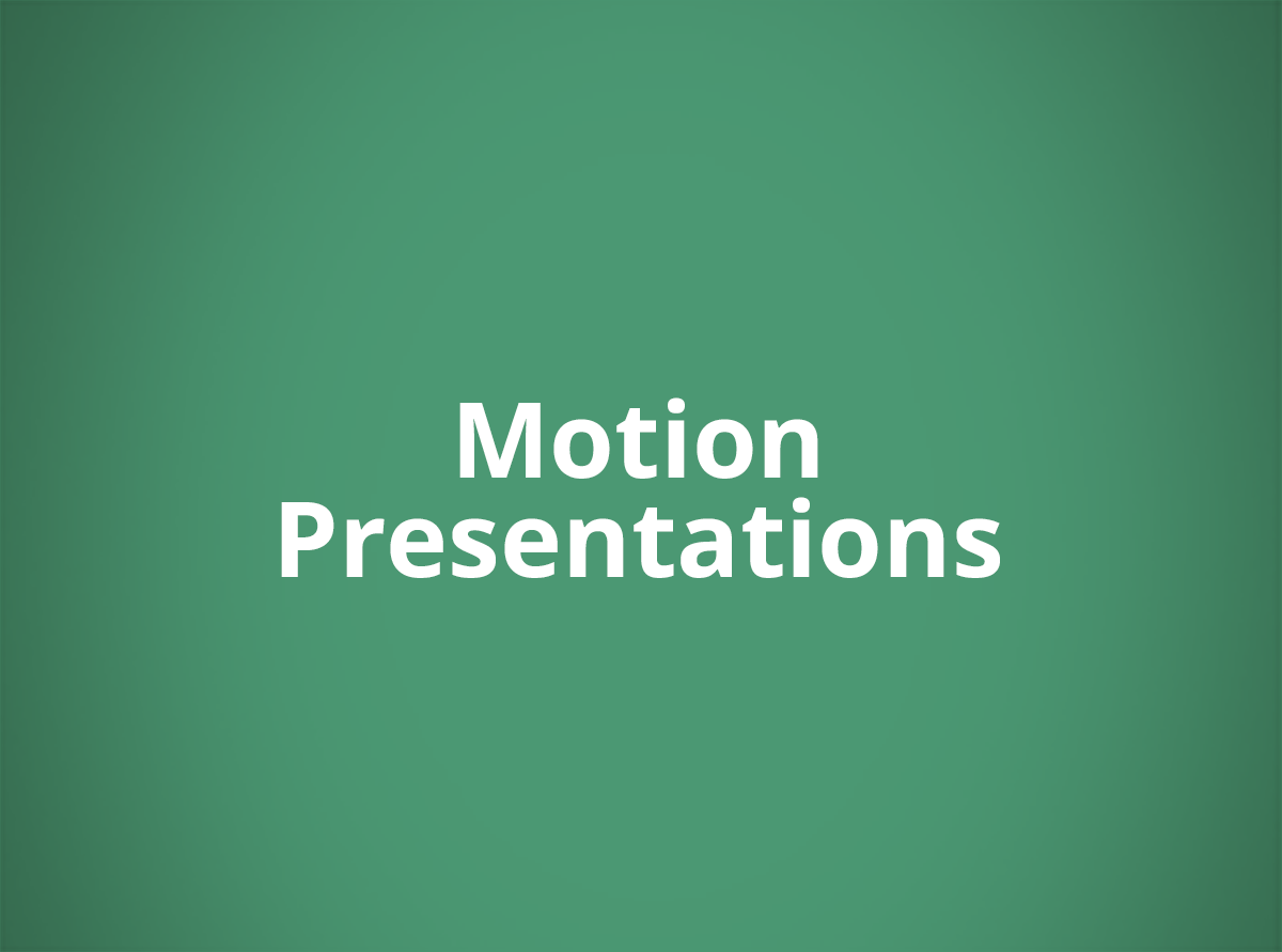Graphics and Animation Presentations For Entertainment Projects