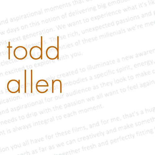 Todd Allen – Writer