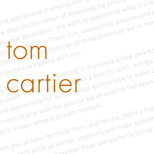 Tom Cartier – Writer